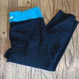 Champion Pants - GUC Black and Blue Champion 9 Workout Capris